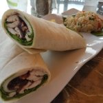 Drunken Turkey wrap and quinoa