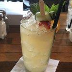 Pimm cocktail. So refreshing.