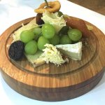 Cheese plate of French and Mexican cheeses