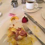 Working on this plate of awesome Eggs Benedict