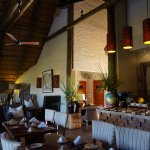 Safari club main building. Where you get your free sundowner cocktail and have breakfast
