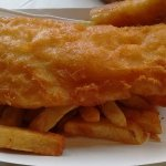 The portions are huge...and the cod is perfectly battered and fried!