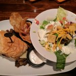 Mixed Green Salad and Shaved Prime Rib Sandwich. $9.99 Lunch Combo (Saturday 11-4)