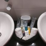 Toiletries: even the toothbrush was included!