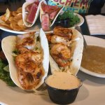 Blackened Shrimp Tacos, and Seared Tuna Tacos