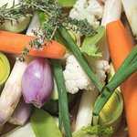 Nous utilisons des aliments frais et sains.