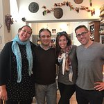 Us with Nat & Livio, sommelier at La Davina Enocteca