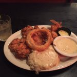 Chicken fried chicken with mashed potatoes (and a few fried gulf shrimp). Amazing!