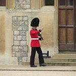 Soldier in the grounds of Windsor castle