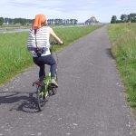 Accès au Mont St Michel à vélo, de façon originale via la voie verte longeant le Couesnon