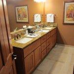 Bathroom with double vanities. Large shower not shown