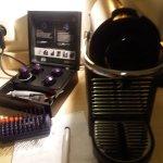 Coffee making machine in bedroom