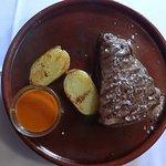 Seared beef w/potato
