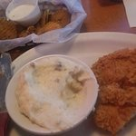 The Chicken Fried Chicken with Mashed Potatoes & Milk Gravy...YES! Don't forget the Fried Pickle