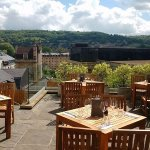 The terrace: the best views over Bath hills from the city centre