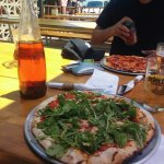 Pizza on the patio