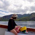 My wife enjoying the Waianae Mountains