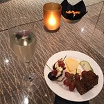 A drink and a nibble in the Club Lounge.