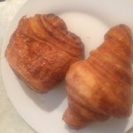chocolate and plain croissant