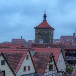 Rothenburg: Taken from the town walls, which you can tour