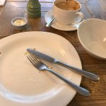 Best compliment you can give. Empty plate. Yum. It was the veggie burger.  Salted caramel chia s