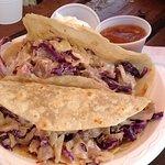 Wasabi tuna tacos