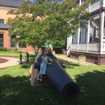Cannons in the lawn near the National Museum of US Navy 05-19-2017