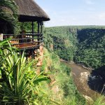 View of the Zambezi, the bar/dining area overlooks this amazingness!