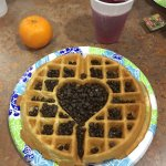 Waffle with chocolate chips on top!!!