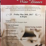 Join us Memorial Weekend for a one of a kind wine Dinner!
