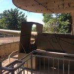 Massive concrete WW2 gun emplacement at the Museum