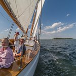 Our family sailing on the Adirondack III