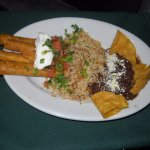 Rice, refried beans and Tqquitos