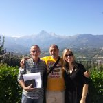 Castel Castagna on an ancestry research day. That's the Gran Sasso in the background