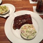 BBQ ribs, coleslaw & yogurt with nuts and apples