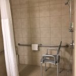 A REAL roll-in shower...in Hawai'i! A sight for sore eyes after all the inaccessibility we faced