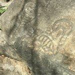 Petroglyphs at end of trail. Taino people sacred place.