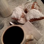 Chicory coffee and beignets