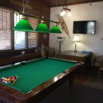 library room with pool table and jigsaw puzzle