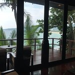 view across the deck and out to karon beach