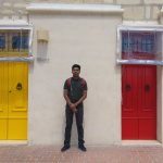 Bright colored doors