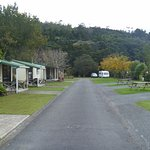 Cabins and powered sites, generous layout, choice of hard standing or grass for campervans