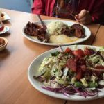 more grilled meat and a salad