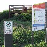 Beach signage