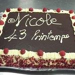 Framboisier maison pour l'anniversaire de Nicole !!