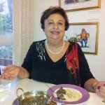 Pari Sani, famous Israeli writer , came by for a Parsi lunch!