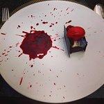 AUGUSTINE CAKE   CHOCOLATE BISCUIT   BLACK CURRANT JAM   TONKA BEAN