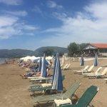 Kalamaki beach and bar, looking towards Laganas