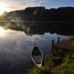 Takou River Glamping - kayaking at sunrise