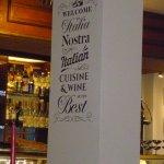 Piler poster in restaurant